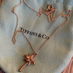 Authentic Tiffany & Co. Palm Tree Charm on Chain